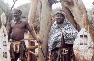 Zulu Men in traditional Garb